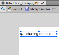 Create a dynamic textfield in the library element from step1